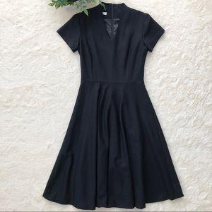 Vintage Pendleton black wool midi dress fit flare